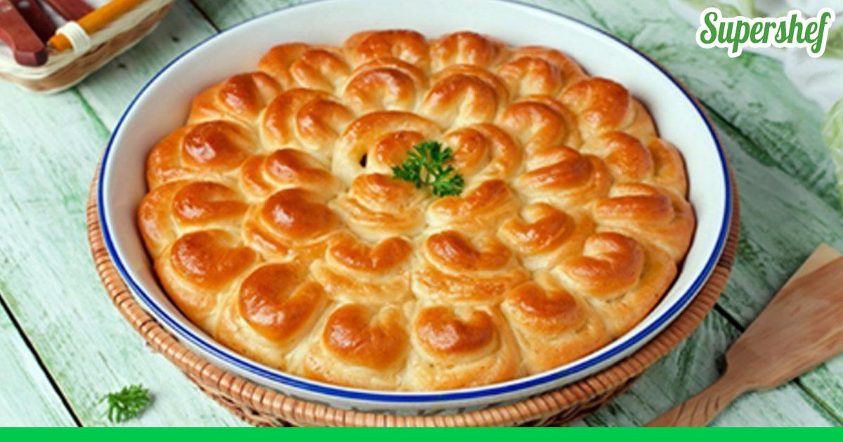 Пирог с мясом рецепт с пошагово в духовке дрожжевое