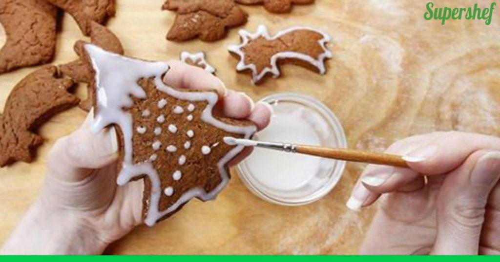 Белая глазурь для имбирного печенья
