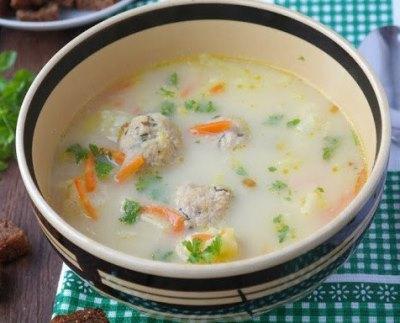 Суп с фрикадельками белки жиры углеводы