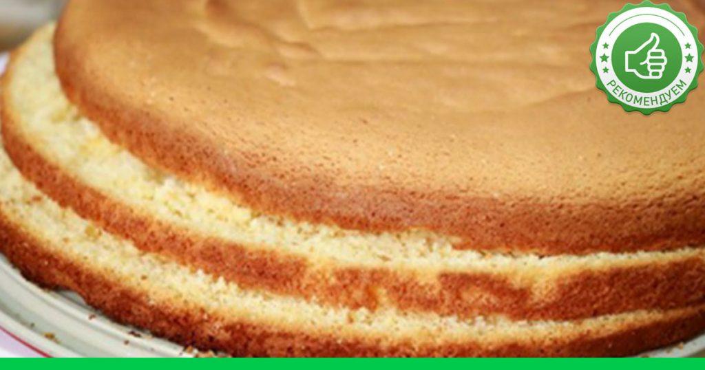 Рецепт бисквит с фото торт