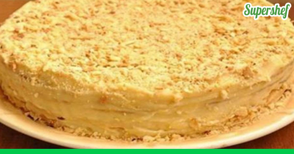 Наполеон торт рецепт с заварным кремом рецепт пошаговый