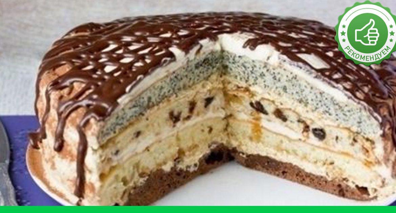 Рецепт с фото торта сметанник
