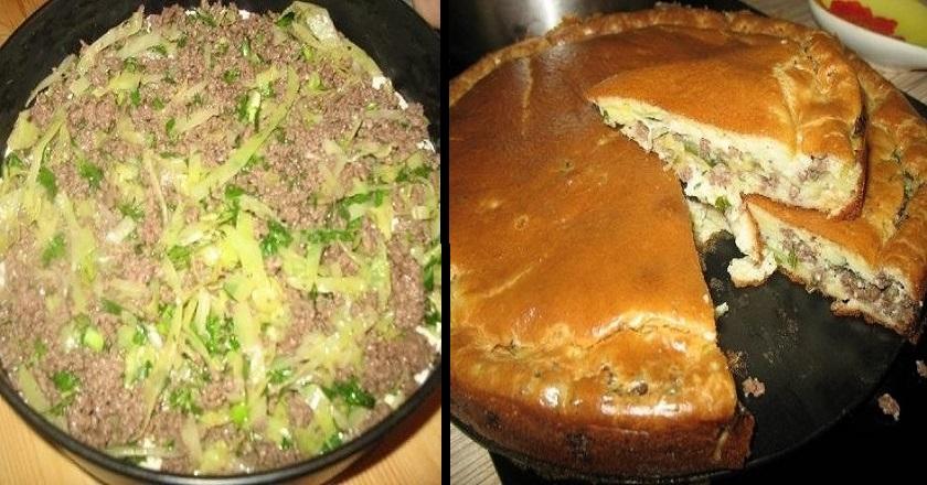 Пирог с капустой на сметане в духовке рецепт с пошагово