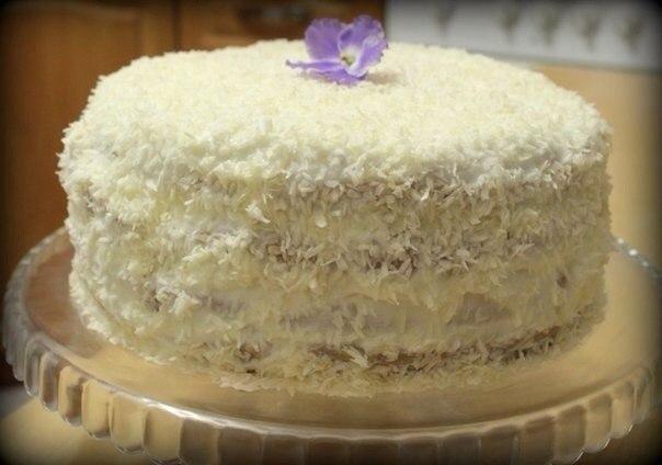 рецепт торта снежный с фото