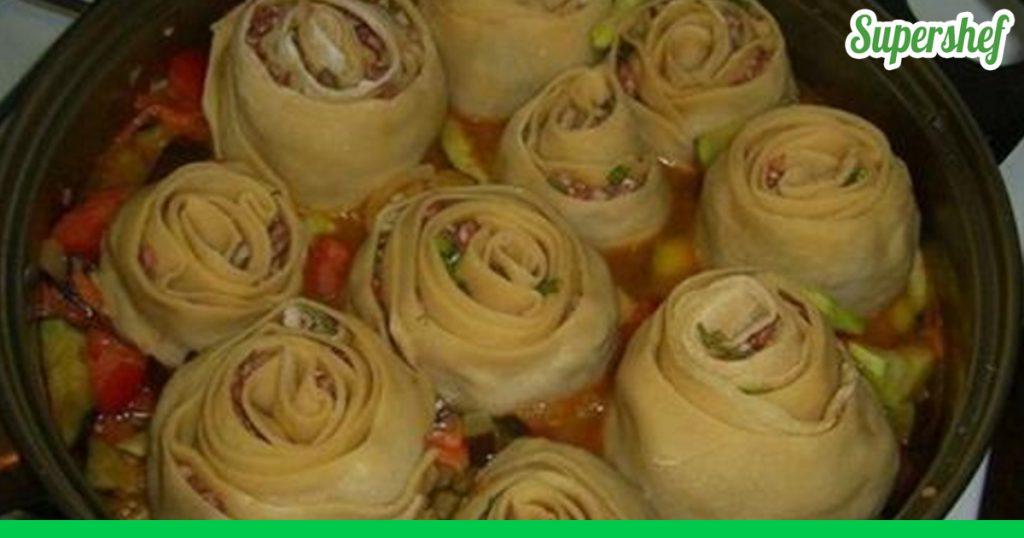 Ленивые манты из лаваша рецепт с пошагово