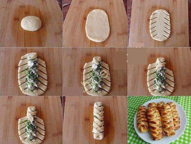 Как красиво сделать из слоеного теста пирожки