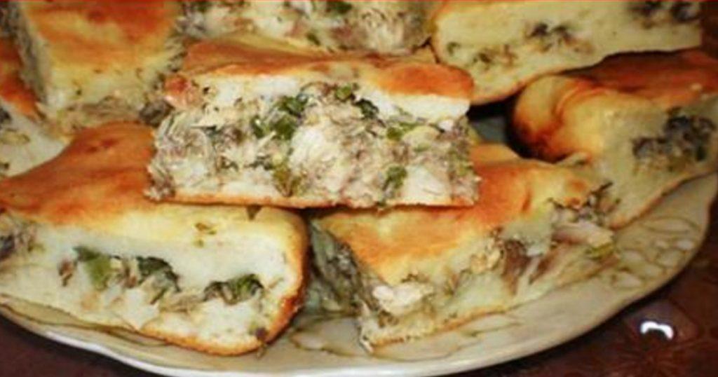 Рецепт быстрого рыбного пирога на кефире