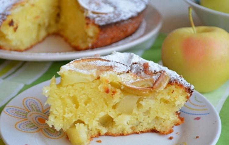 Манник с творогом и яблоками в духовке рецепт