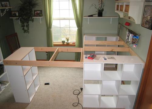 3 ikea - Comment faire un bureau avec un plan de travail ...
